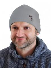 Pletená čepice NORDIC šedá č.1