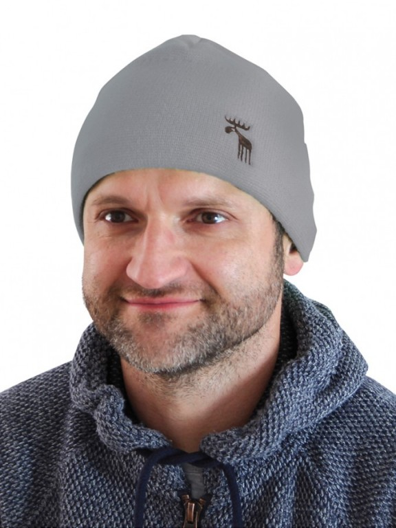 Pletená čepice NORDIC šedá