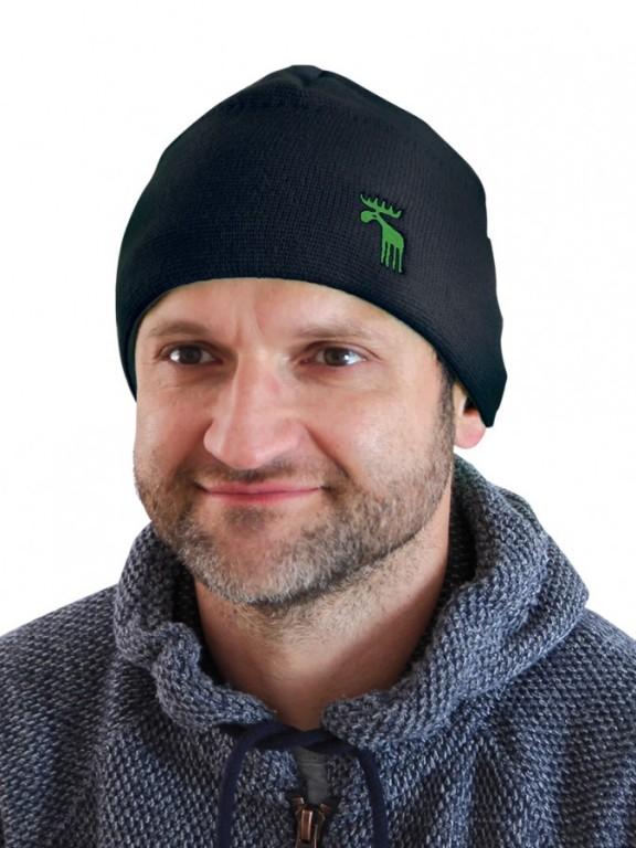 Pletená čepice NORDIC černá