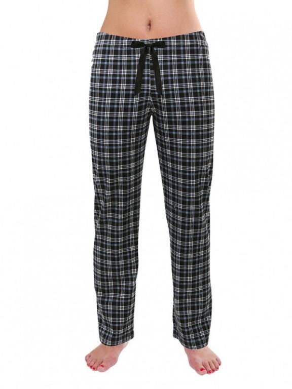 Dámské pyžamové kalhoty ZOE šedo-modré káro