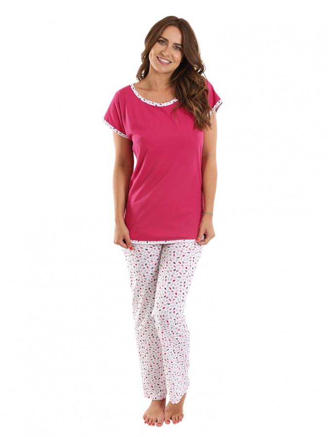 ff5b2eb063b4 Dámské pyžamo EVELÍNA malinové