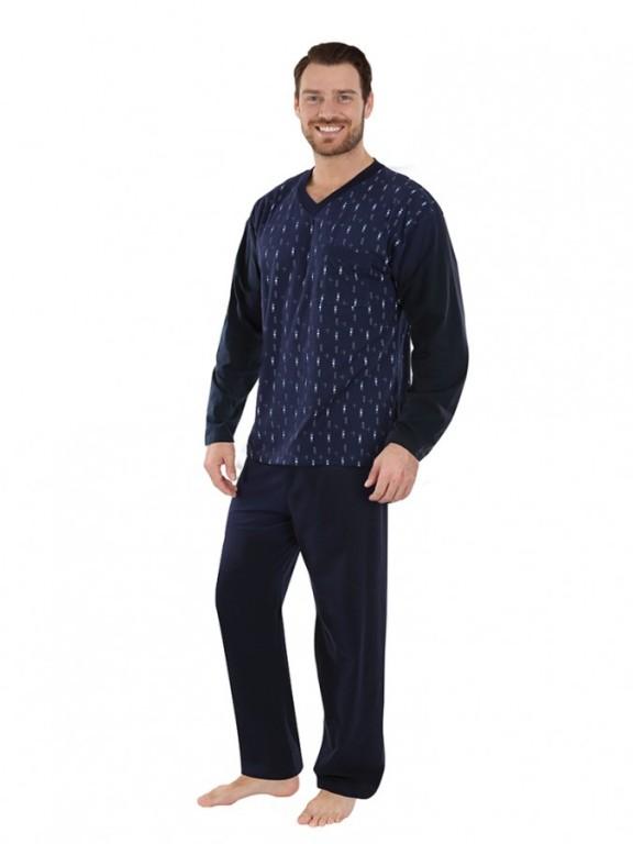 Pánské dlouhé pyžamo SVEN tmavě modré