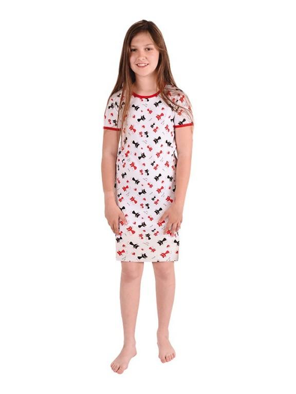 Dívčí noční košile P1415 KOČIČKY