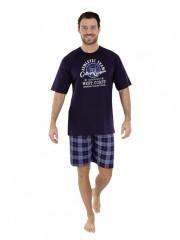 Pánské krátké pyžamo TIBOR modré č.1