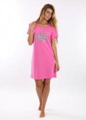 Noční košile VERONA růžová č.1