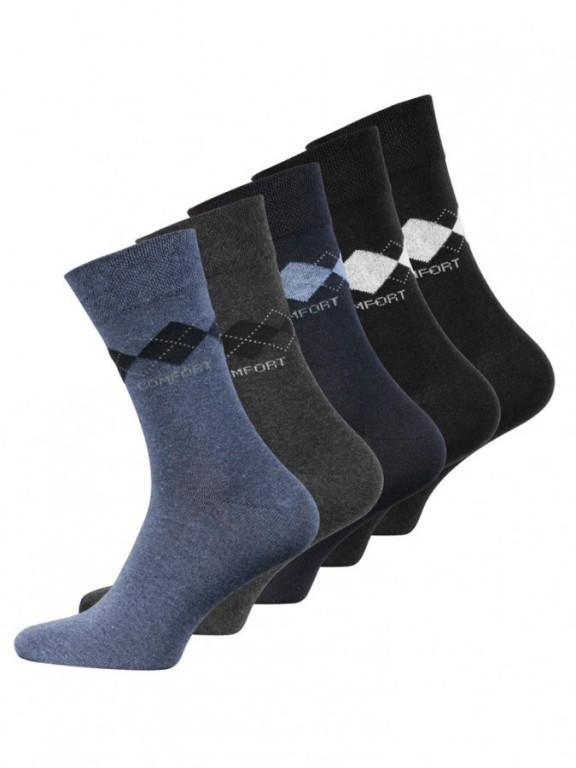 5 PACK pánských vzorovaných ponožek 2031