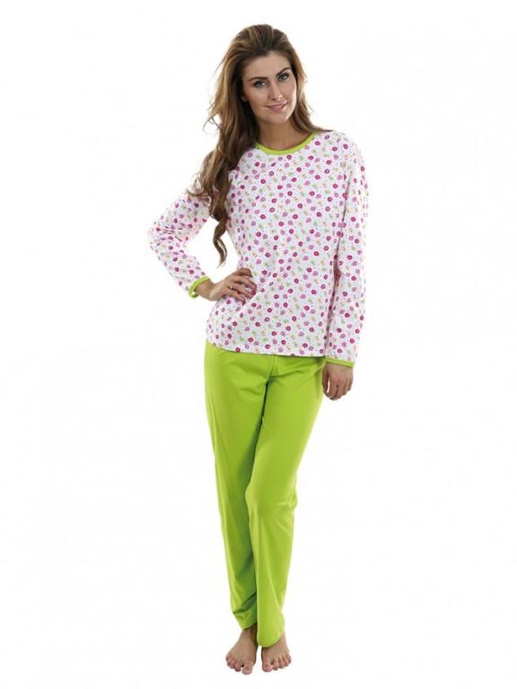 Dámské pyžamo P1406 kytičky