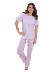 Dámské kárované pyžamo TINA fialové č.1