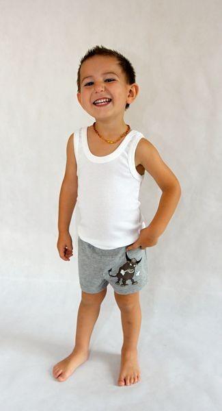 Dětské boxerky šedé