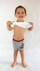 Dětské boxerky šedé č.2