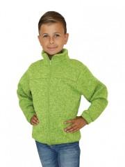 Dětská mikina PANDA zelený melír č.1
