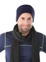 Pletená čepice NOEL modrá č.1