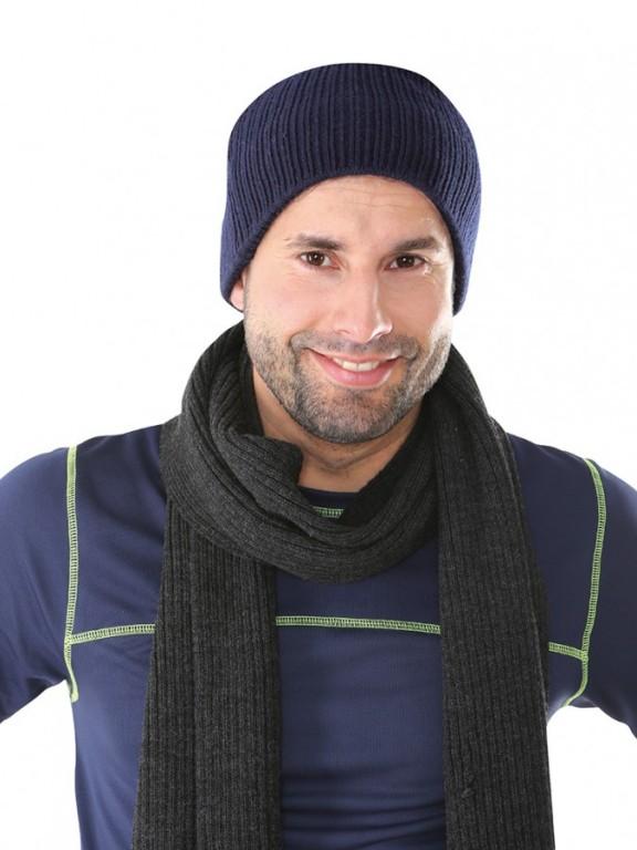 Pletená čepice NOEL modrá