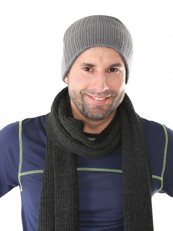 Pletená čepice NOEL šedá