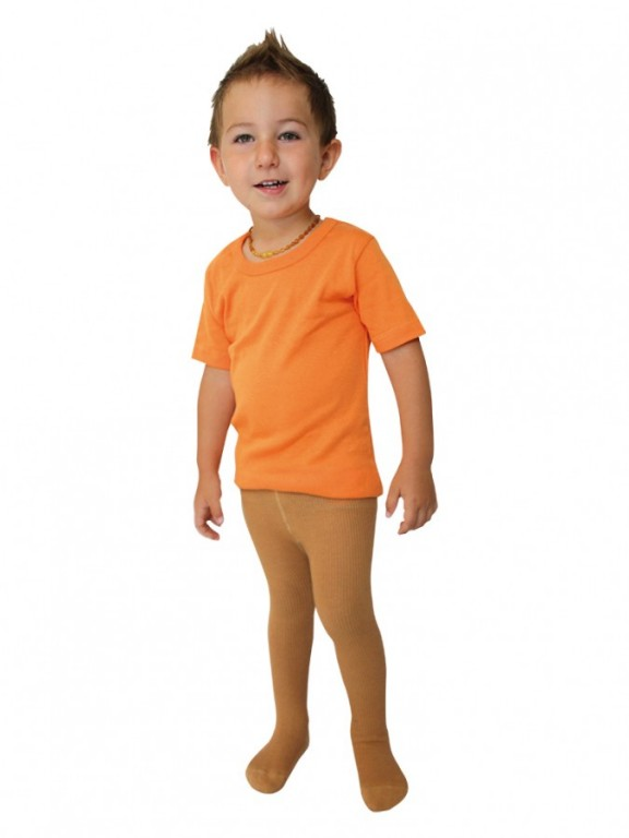 Dětské punčochové kalhoty DINO hnědé