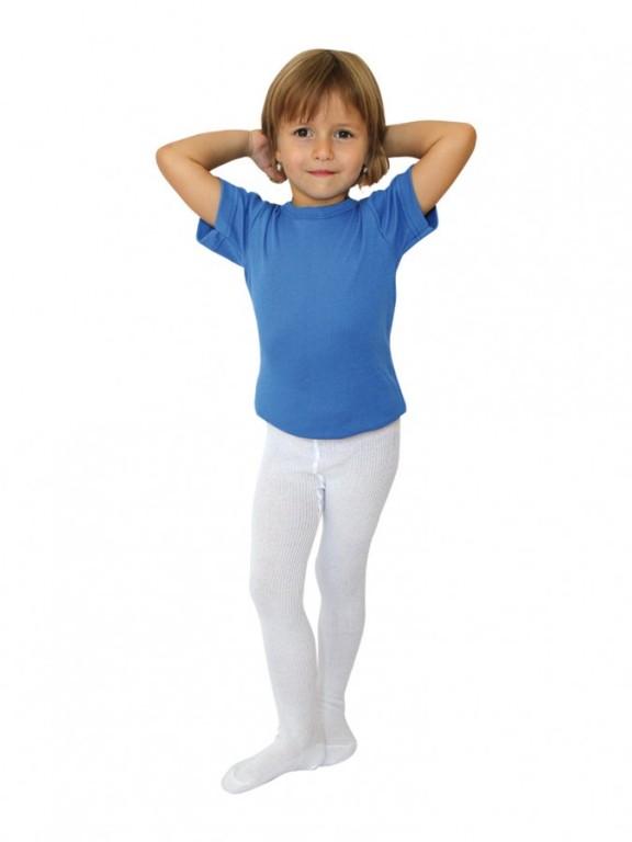 Dětské punčochové kalhoty DINO bílé