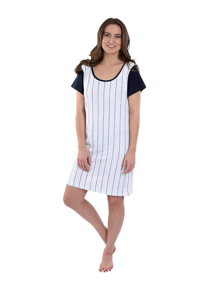 b696201196a Dámské pruhované šaty 7 s krátkým rukávem