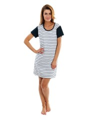 Dámské pruhované šaty 7 s krátkým rukávem