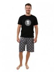 Pánské krátké pyžamo P1605 černé č.1