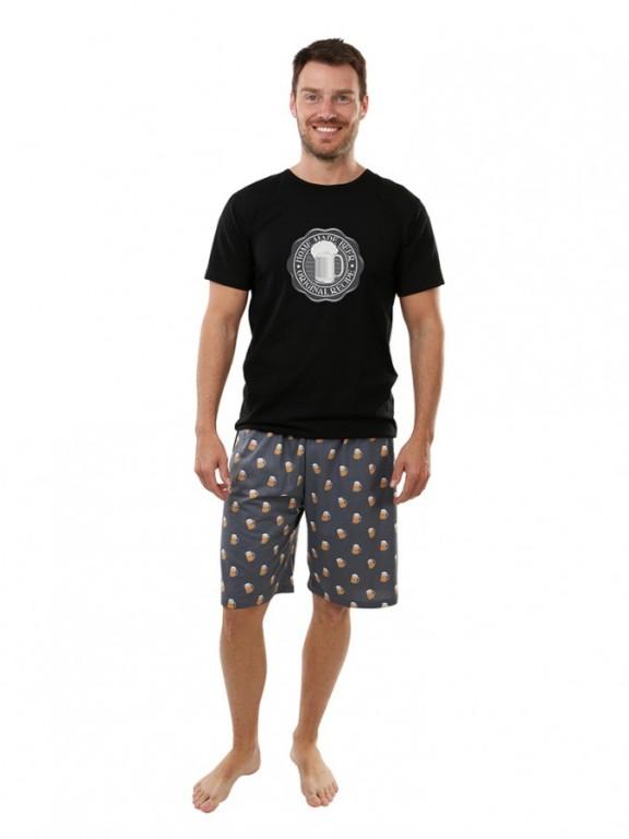Pánské krátké pyžamo P1605 černé