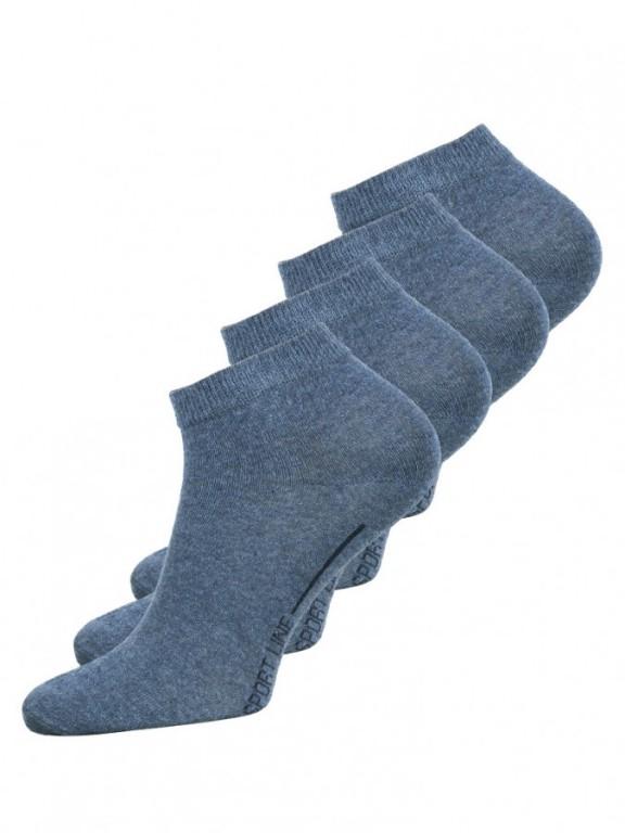 4 PACK pánských kotníkových ponožek 2046 modrých