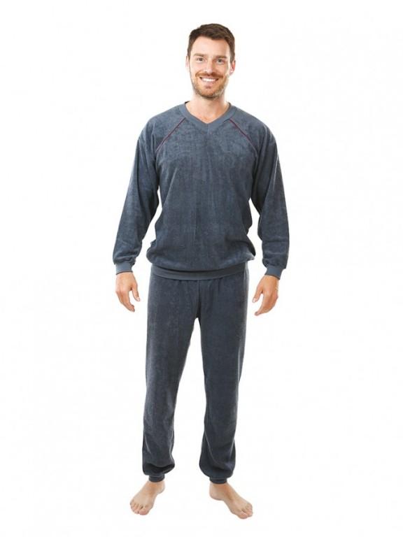 Pánské froté pyžamo P 1427 šedé