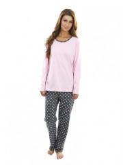 Dámské pyžamo P1424 růžové hvězdičky č.1