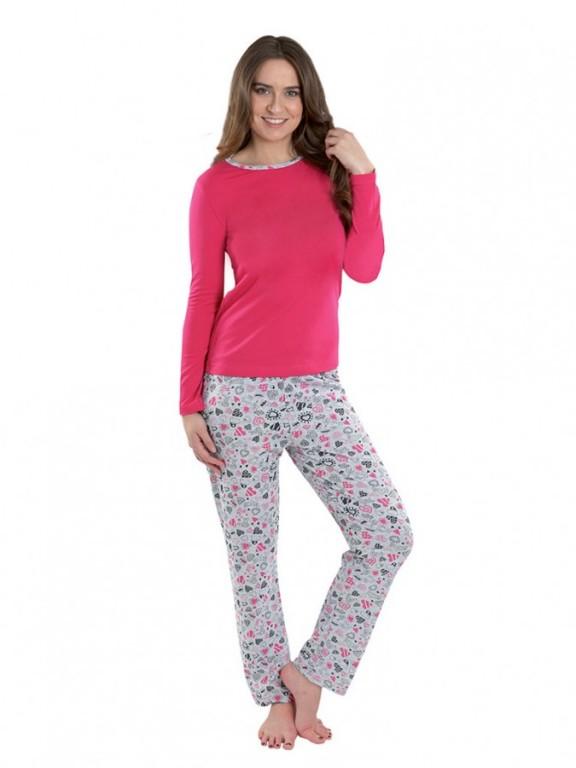 Dámské pyžamo P1424 růžové