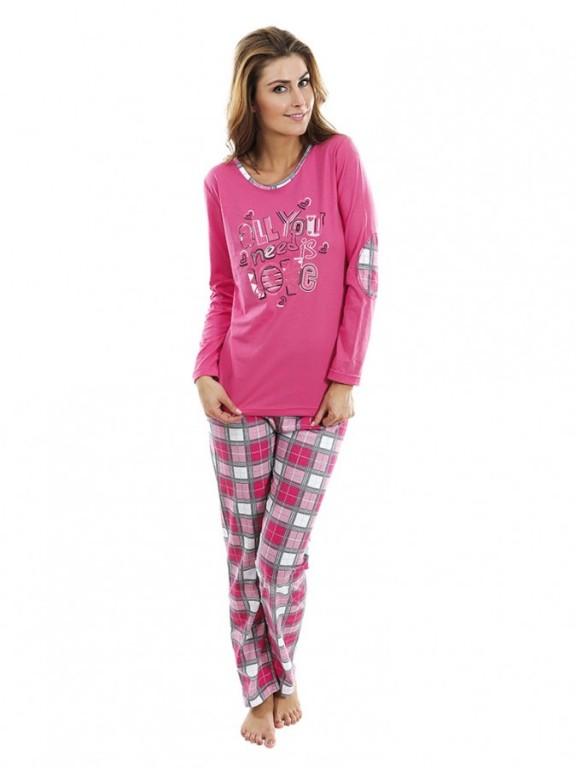 Dámské pyžamo P1423 šedé