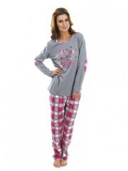 Dámské pyžamo P1423 šedé č.1