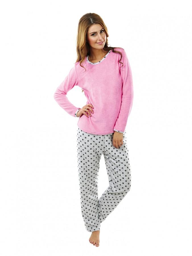 Dámské froté pyžamo P 1422 růžové  70db65abad