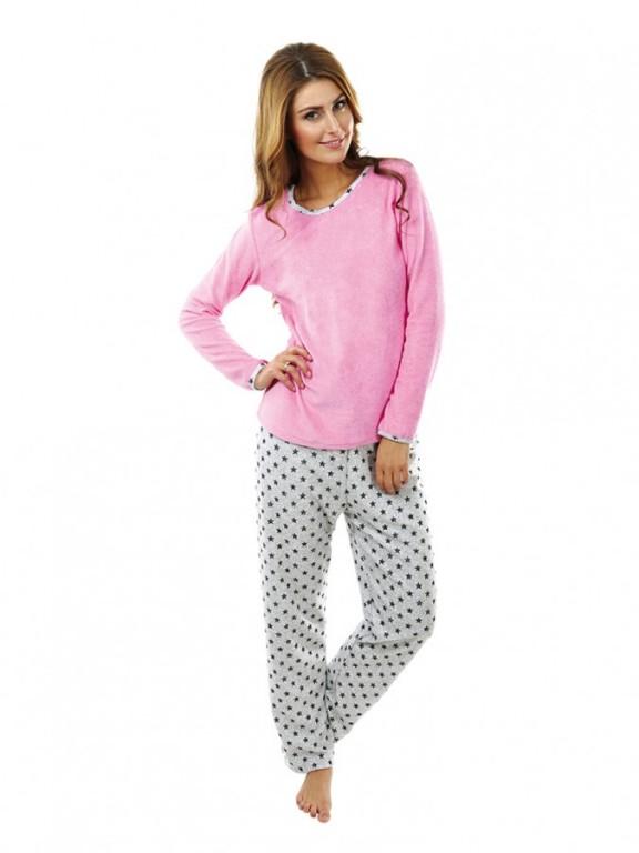 Dámské froté pyžamo P 1422 růžové