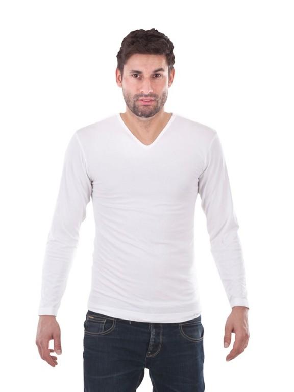 Pánské bavlněné TRIKO P7 bílé