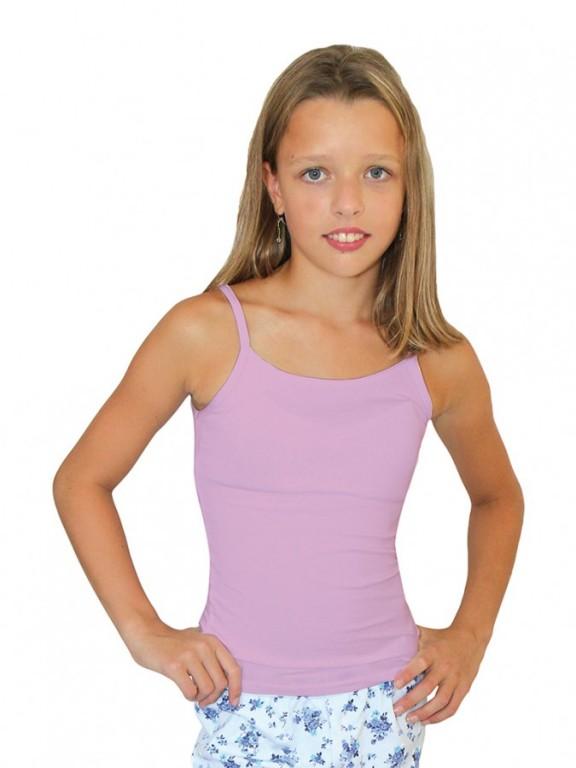Dívčí elastická košilka 7004 lila