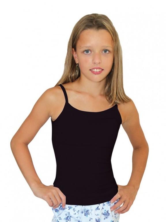 Dívčí elastická košilka 7004 černá