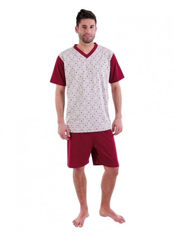 Pánské krátké pyžamo JAKUB 046