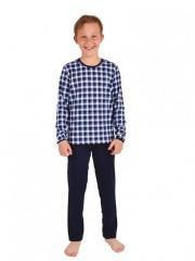 Chlapecké pyžamo ALEX modré káro č.1
