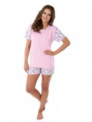 Dámské krátké pyžamo LINDA srdíčka č.1