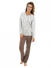 Dámské pyžamo P1406 listy č.1