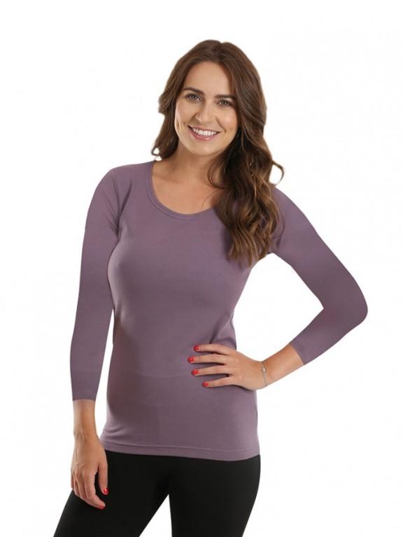 Dámské triko EBY fialovo-šedé