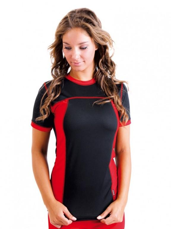 Dámské sportovní triko VELO D černo červené