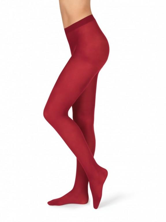 Neprůhledné punčochové kalhoty MAGDA 242 červené