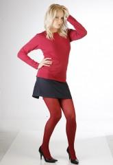 Neprůhledné punčochové kalhoty MAGDA 242 červené č.2