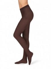 Neprůhledné punčochové kalhoty MAGDA 15 čokoládové č.1