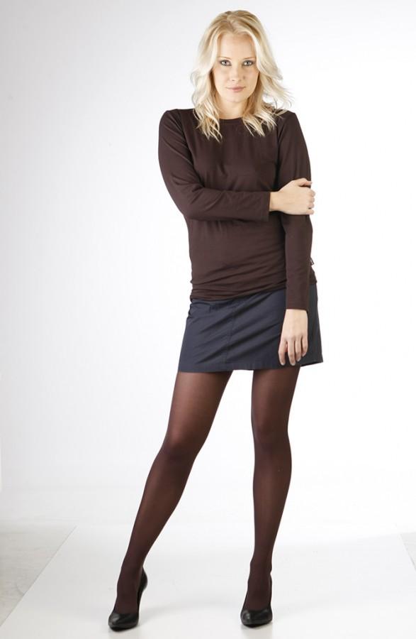 Neprůhledné punčochové kalhoty MAGDA 15 čokoládové  f20be300be