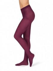 Neprůhledné punčochové kalhoty MAGDA 3 vínové č.1