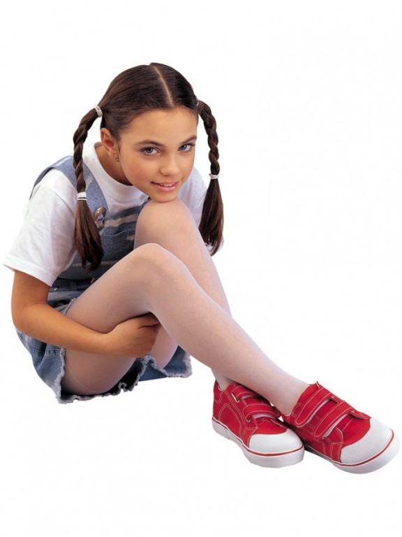 Dívčí punčochové kalhoty IVALKA bílé