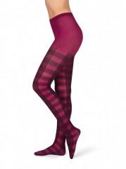 Dámské punčochové kalhoty TARTAN růžové č.1