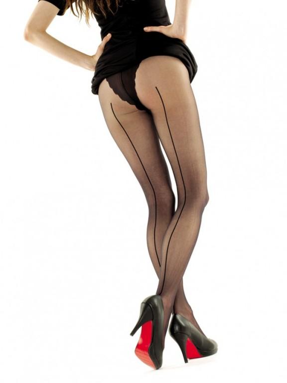 Vzorované punčochové kalhoty EVA