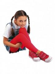 Dívčí dlouhé legíny KRISTA 242 červené č.1